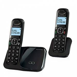 Alcatel XL280 Duo DECT Caller ID Black - telephones (DECT, Desk/Wall, Black, LCD, AAA, Polyphonic)