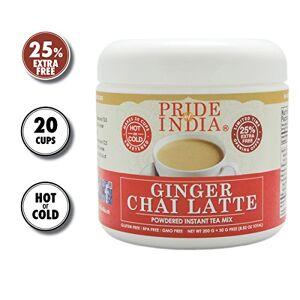 Pride Of India - Ginger Chai Latte - Powdered Instant Tea Premix, 8.82oz (250gm) Jar (Makes 20 Cups)