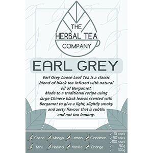 The Herbal Tea Company True Cinnamon Earl Grey Tea Bags with Lemon Flavour 100 Pack