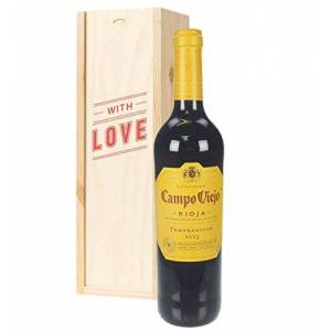 Sparkling Direct Rioja Tempranillo Red Wine Valentines Gift Box