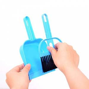 Mini Cleaning Brush and Dustpan Set Desktop Sweep Broom Cleaning Tools for Computer Keyboard Desktop Car Table