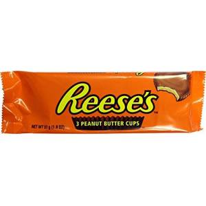 Reese's Hersheys Reeses Peanut Butter Cups 3 Pack 51g