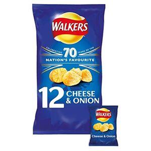 Walkers Cheese & Onion Crisps 12 x 25g