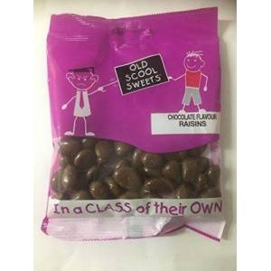 Old Scool Sweets Chocolate Raisins 60g Old Scool Sweets Retro PIC n MIX Your Own ( Any 20 = Free Standard Shipping Click on Flavour Bar For More Choices )