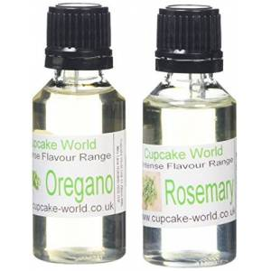 Cupcake World Rosemary and Oregano Intense Food Flavours (Two 28.5 ml bottles)