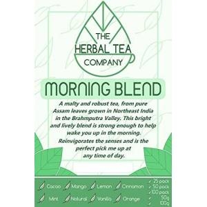 The Herbal Tea Company Spearmint Morning Tea Blend Tea Bags Organic with Lemon Flavour 50 Pack