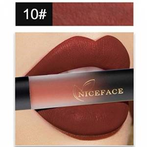 Women Lipstick,New 18 Colors Girls Beauty Lip Lingerie Ladies Soft Charming Sexy Waterproof Long Lasting Matte Liquid Lipstick Lip Gloss Makeup Best Decoration On Your Lips (J)