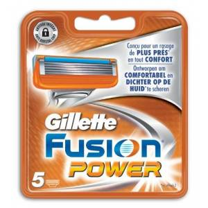 Gillette Fusion Power - Razor Blades - Pack of 5 Refills