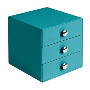 iDesign Drawers Makeup Storage Drawers, Plastic Desktop Drawer Organiser, Petrol