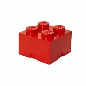"Room Copenhagen Storage Brick ""Lego"" with 4 Knobs, Red"