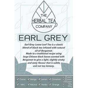 The Herbal Tea Company Marco Earl Grey Tea Bags with Mango Flavour 50 Pack