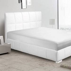 White Solid Fitted sheet Super King 24 cm deep pocket up to on your mattress egyptian cotton 650 Thread count sateen finish sheets.