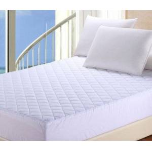Rohilinen New Reformed Essential Microfibre Quilted Mattress Protector Single Bed, White