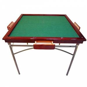 ZXJUAN Furniture Solid Wood Mahjong Table Folding Manual Chess Table Multifunctional Table Mahjong Table Dining Table Without Cover (Color : Red, Size : 92x92x75cm)
