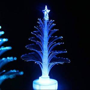 CamKpell Christmas Tree Light Color Changing LED Light Lamp Room Decoration Ornament Small Night Light for Home Party Festival - White
