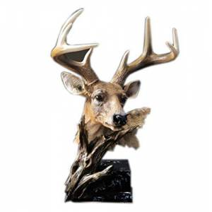 ZFF Modern Minimalist Simulation Deer Head Resin Desktop Ornaments Vivid And Lovely Souvenir Gift Bedroom Living Room Creative Decorations