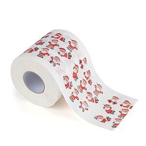 Dayboom Santa Claus Bath Toilet Roll Paper-Christmas Print Toilet Roll Paper Christmas Supplies Xmas Decor Tissue,Christmas Decorations Ornaments (D)
