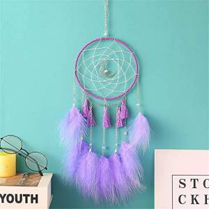 LYFEI Ins wind ornament LED Dream Catcher, LED Dream Catchers, Dream Catcher, Dream Catchers Handmade Traditional Feather Hanging Home Wall Decoration Dcor Ornament Craft Native American Style