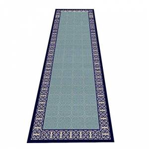 QiangDa-didian QianDa Carpet Runners Hall Runner Extra Long Area Rugs, Non Slip Formal Runner Mats, For Kitchen Dining Room Hall Entryway Doormats, Green (Size : 90x200cm)