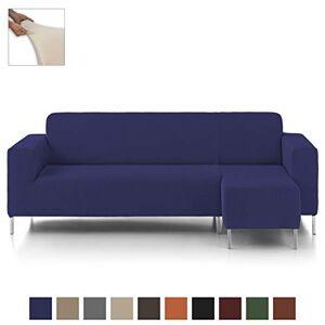 Eiffel Textile Nimes Chaise Longue - Designer Sofa Cover Short Right Arm 240 x 195 x 2 cm blue