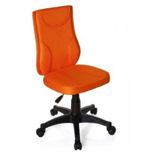 hjh OFFICE, 670440, Childrens Desk Chair, swivel chair, computer chair kids room, KIDDY BASE, Orange, mesh fabric, for children, ergonomic back, height adjustable, office task study chair,  home stool