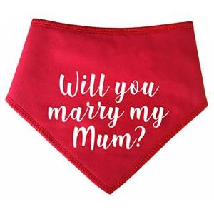 Spoilt Rotten Pets (S2) Will You Marry My Mum? Red- Cute Wedding Proposal Dog Bandana - Costume Fancy Dress For Dogs (Small Dogs Shih-tzu Terriers & Cockerpoo)