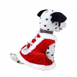 waitFOR Dogs Cats Christmas Santa Costumes Small Pets Winter Fleece Color Stitching Sweater Puppy Jumper Pullover Jacket Coat Doggy Jacket Sweatshirt Home Clothes Costume Pet Apparel
