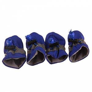 Roblue Dog Boots Paw Protector,Waterproof Anti-Slip Soft Dog Shoes (Without Plush)