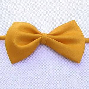 LPxdywlk Cute Solid Color Adjustable Bowtie Pet Dog Collar Bowknot Necktie Bow Tie Party Decor Yellow