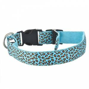 Roblue Luminous LED Collars with Camouflage Design for Dogs Cats Pets Nylon