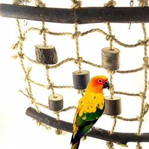 beiguoxia Funny Parrot Chew Toy Parrot Climbing Net Rope Ladder Chew Bite Toys Cage Pendant Decor Pet Supplies Pet Supplies