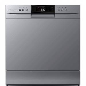 Cookology 8 Place Setting XL Mini Table Top Dishwasher (Silver)