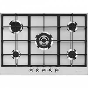 Smeg Gas hob with 5 Burners PX375, Stainless Steel