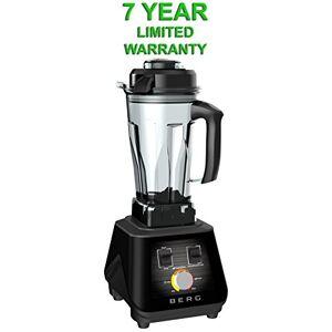 BERG 1500W 2HP Commercial Pro Specialist Health Nutrition Blender/Smoothie Maker/Soup Maker - Black