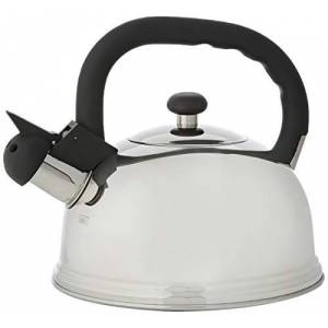 KitchenCraft Le'Xpress Induction Whistling Stovetop Kettle, stainless steel, Silver, 1.6 Litre