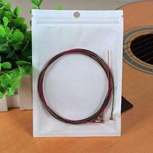 Wenjie Durable Nickel Plated Steel Guitar Strings Rainbow Colorful Guitar Strings For Acoustic Folk Guitar Classic Guitar - White