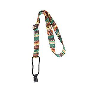 Jenkun Ethnic Style Guitar Strap Adjustable Ukulele Shoulder Strap Neck Sling Belt(Color:Multicoloured)
