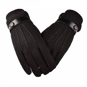 NAIHEN Touchscreen Gloves for Men Winter Warm Suede Windproof Driving Gloves Outdoor Sports Cycling Running Ski Gloves Full Finger Mittens