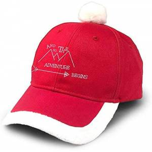 DLing Santa Baseball Cap Red Christmas Cap Hat
