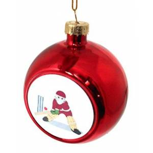 Sporting Figures Christmas Cricket Bauble