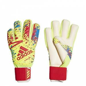 adidas Classic Pro Goalkeeper Gloves, Unisex Adult, unisex-adult, DT8745, solar yellow/active red/football blue, 11