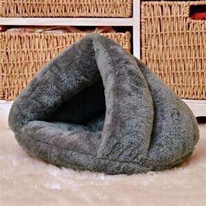 SHIYID Gray triangle cat litter sleeping bag kennel warm pet kennel dog mat cat house pet nest bottom width 4040cm