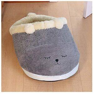 TXWS Dog House Plush Slipper Dog Bed Comfortable Cave House Sleeping Bag Cushion Sofa Mattress Warm Kennel 45 * 30cm