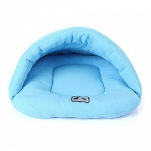 star-xing Dog Bed Waterproof 6 Colors Soft Polar Fleece Dog Beds Winter Warm Pet Heated Mat Small Dog Puppy Kennel House For Cats Sleeping Bag Nest Cave Bed-Skyblue-L,