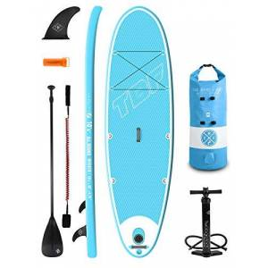 "Two Bare Feet Inviato 10'0"" / 10'6"" / 10'10"" / 4.75"" and 6"" Inflatable SUP Starter Pack (Aqua 10'6"" x 35"" x 4.75"")"