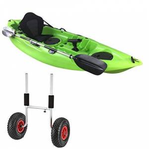 Cambridge Kayaks Single sit on top Kayak with an H pin Trolley (Lime Green)