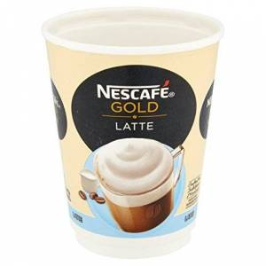 NESCAF &GO GOLD Instant Latte Cups, 5 Sleeves of 8 (Total 40 Cups)