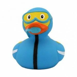 Lilalu 8 x 8 cm/50 g Collector and Baby Diving Rubber Duck Bath Toy