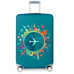 YEKEYI Travel Suitcase Protector Zipper Suitcase Cover Washable Print Luggage Cover 18-32 Inch New