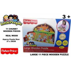 Fisher Price 11 Piece Large Wooden Puzzle Little People Chunky Pieces